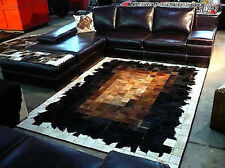 New Cowhide Rug Leather. Animal Skin Patchwork Area Carpet -