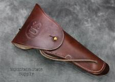 RH U.S. m1916 Colt 1911 US m1911 45 AUTO Russet Leather Side Belt Pistol Holster