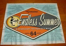 GENUINE ENDLESS SUMMER Retro 60's Style Surfing Surfer Beach Home Decor Sign NEW