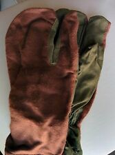 Soviet and Russian military winter mittens, gloves