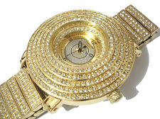 Iced Out Bling Bling Big Case Hip Hop Techno King Men's Watch Gold Item 4005