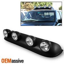 Roof Top 4X4 Off Road Truck Clear Round Fog Lights Bar W/Bulbs+Wiring+Switch