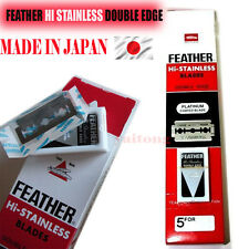 20 Pcs. FEATHER Hi-Stainless Platinum Double Edge Razor Blades