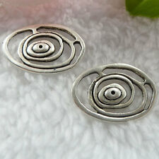 Free Ship 208 pieces tibet silver flower connector 24x17mm  #019
