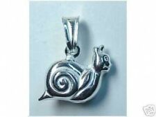 LOOK Snail Pendant Charm Animal Jewelry Sterling Silver .925