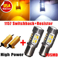 2X Turn Signal Resistor +1157 Dual Color Switchback High Power 5730 20-LED Light