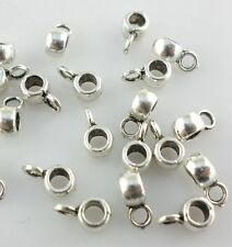 120pcs Tibetan Silver Connectors Spacer Bail Beads Charms 3.5*4*6mm