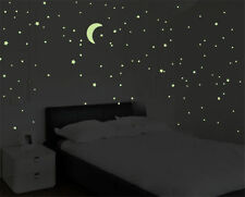 200Pcs Glow In The Dark Tiny 3D Stars Stickers Home Children's Room Wall Decor D