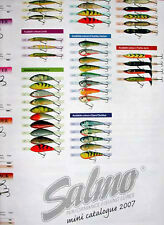 Plakat SALMO 2007 * Fishing SPINNING Lures mini catalogue JERKBAIT * JERKBAITS