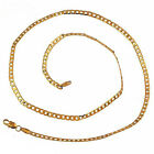 18k Yellow Gold Filled 4MM Men's Necklace 24 inch Curb Link Chain GF Jewelry