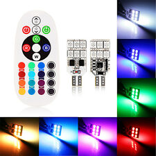 2X T10/W5W/168 LED Car Dome Reading Light Interior Bombillas with Remote Control