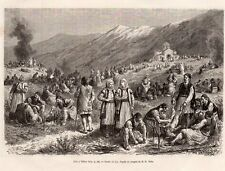 THEBES FETE PARTY GRECE GREECE IMAGE 1876 PRINT