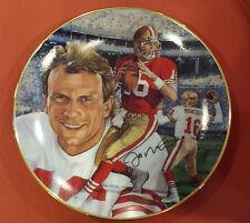 Joe Montana 1991 Comeback Kid Autographed Plate
