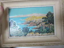 EMAUX DE LONGWY L ESTEREL PROVENCE PAINTING M P CHEVALLIER OLD FRENCH ANTIQUITY