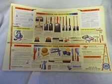 1953 Chevrolet Common Painting and Decorating Brushes Poster GM Giveaway