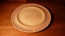 "1874 ANTIQUE RED/WHITE MODERN STYLED BORDER 10 1/2"" ENGLISH PORCELAIN PLATE"