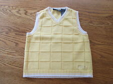 Kenneth Cole Reaction Boy's SWEATER VEST Yellow 2T Toddler Sleeveless Cotton