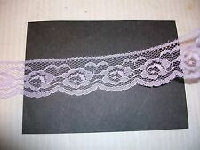 "VINTAGE ROLL 1 1/4"" LACE PASTEL LILAC 100 yds FLAT FLORAL TRIM BEARS DOLLS CRAFT"