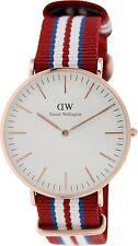 Daniel Wellington Men's Exeter 0112DW Red Nylon Quartz Watch