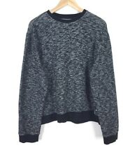 OBEY Black White Marled Mixed Knit Crew Neck Pullover Style Sweat Shirt sz XL