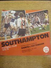 16/04/1979 Southampton v Tottenham Hotspur  . Footy Progs/Bobfrankandelvis, expe