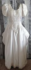 Private Label By G Satin Wedding Bridal Gown Dress Sequin Beaded Lace Size 12
