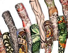 12 Pairs - Wearable Tattoo Arm sleeves Skin Cover for Sun protection