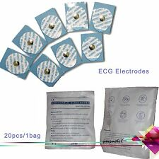 100PCS  Disposable Conductive Electrode Pads ECG EKG Resting Gel Foam Tab