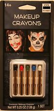 MAKEUP CRAYONS Costume Accessory Clown Halloween Skeleton Adult Men Women NEW