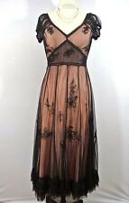 NATAYA New Black/pink Formal Victorian Dress Gatsby XL Lace Long Party Steampunk