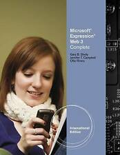 Microsoft® Expression Web 3, SHELLY/CAMPBELL, Good, Paperback