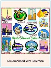 """Australian Site """" FAMOUS WORLD SITES """" 30 Embroidery Design CD or Janome CF Card"""