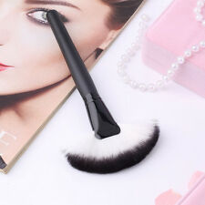 HQ Pro Makeup Large Fan Goat Hair Blush Face Powder Foundation Cosmetic Brush