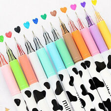 12pcs/lot Colorful Cow Print Gel Pen Cute Pens Student Office Accessories Hot