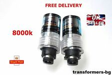 D2S 8000K HID XENON PAIR / Two REPLACEMENT BULB Lamp Blue Light New DS2