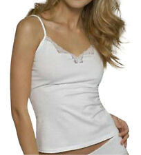 Ladies/Girls Cotton Cami Vest & Knickers Set White by Figleaves Size 12