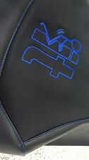 YAMAHA RAPTOR 700 700r  GRIPPER seat cover  BLUE STICHING screw it logo