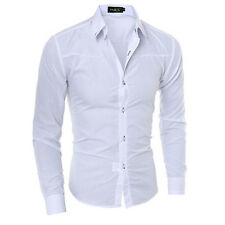 Luxury Fashion Mens Slim Fit Shirt Long Sleeve Dress Shirts Casual Shirt Tops