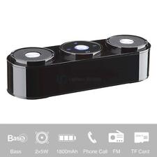 10W Wireless Bluetooth Stereo Bass Speaker with Mic for iPhone Samsung Tablet PC