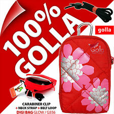 Golla Universal Compact Digital Camera Case Bag + Strap for Fuji Sony Samsung