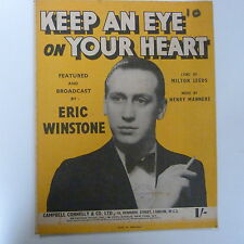 song sheet KEEP AN EYE ON YOUR HEART Eric Winstone 1940