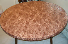 "Brown marble Elastic fitted vinyl indoor outdoor 44"" round patio table cover"