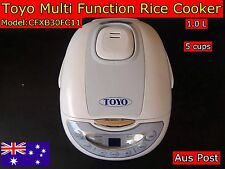TOYO Fuzzy Logic Multi Functions Rice Cooker with Keep warm 5 Cups Brand New