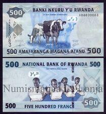 B-D-M Ruanda Rwanda 500 Francs Cows 2013 Pick 38 SC UNC