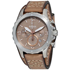 Fossil Nate Chronograph Taupe Dial Mens Watch JR1518