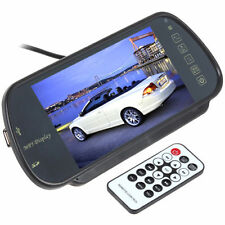 2 AV input 7 Inch TFT LCD Color Screen MP5 SD USB Car Rear View Mirror Monitor