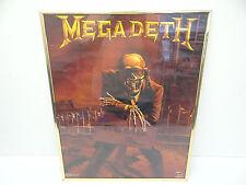 Vintage Original 1986 Megadeath Vic Funky For Sale Metal Music Rock Poster Old