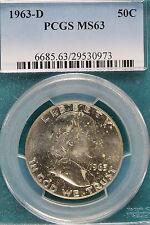 1963-D PCGS MS63  Franklin Half Dollar!! #B3509