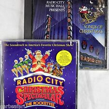 Radio City Music Hall 2 Christmas CD Lot Spectacular Rockettes Orchestral Songs