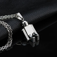 AgentX Mens Robot Stainless Steel Pendant Necklace Sport Stylish Chain+Gift Bag